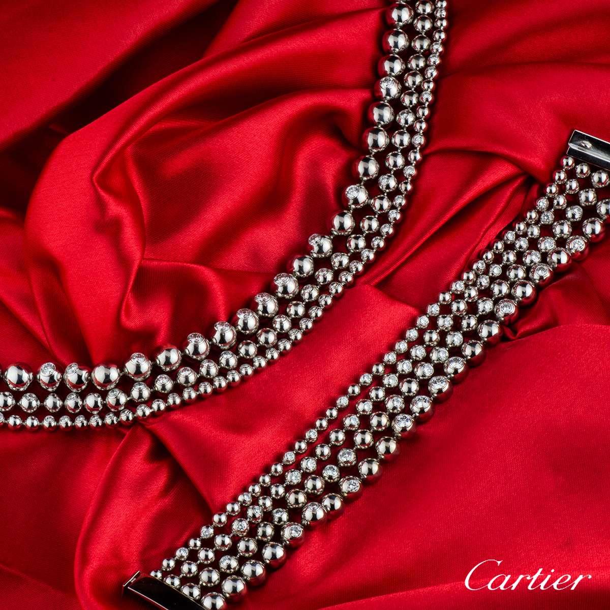 Cartier White Gold Diamond Moonlight Jewellery Suite